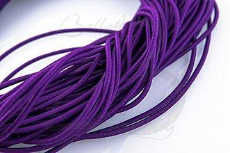 Galantéria - NAV760, ŠNÚRKA 2.5mm pružná FIALOVÁ /1m - 2960429