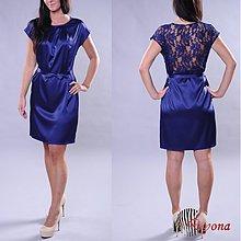 Šaty - Saténové šaty s krajkovým chrbátom v rôznych farbách - 2964756
