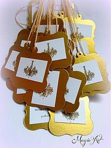 Papiernictvo - Darčekové kartičky na víno - Dolce chandelier - 2965066