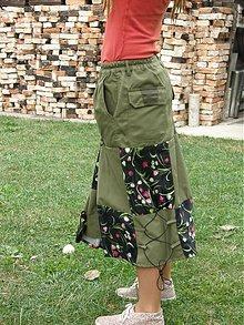 Sukne - sukňa z polnočného lesa - 2966761