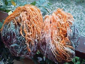 Materiál ručne robený - Ručne pradená ovčia vlna - MERINO - 2974550