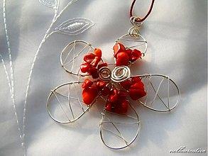Sady šperkov - Kvet s koralom... - 2977474