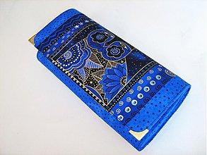 Peňaženky - Luxusní Šelmička v modré - velká na spoustu karet - 2978420