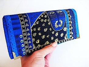 Peňaženky - Luxusní Šelmička v modré I. - velká na spoustu karet - 2978435