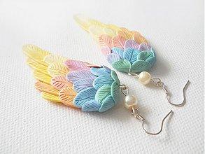 Náušnice - Krídla, (pastelové) - 2982694