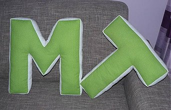 Textil - MAXI písmenko  T  40 cm - 2983734