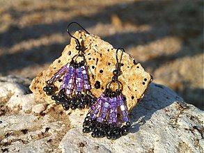 Náušnice - chobotničky fialové - 2984617