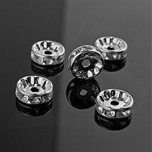 Korálky - KKO497, Kovové KORÁLKY rondelka Crystal 10mm /1ks - 2985549