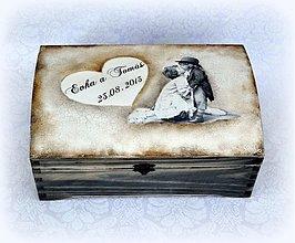 Papiernictvo - Spomienková retro truhlička - 2996258