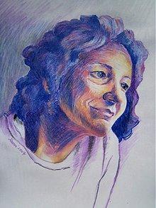 Kresby - Portrét na zákazku - pastelové ceruzy na papier - 3003982
