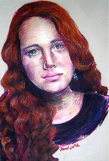Obrazy - Portrét na zákazku - suchý pastel na kartón - 3004025