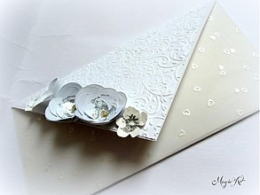 Papiernictvo - Svadobná obálka na peniažky - Nevestin závoj - 3006857