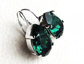 Náušnice - emerald eyes - 3008977