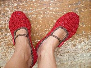 Iné oblečenie - papuČOVníkY- balerínky- red - 3009258