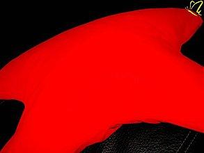 Úžitkový textil - _červený CiK-CaK vankúš proti chrápaniu, aj proti vráskam - 3009998