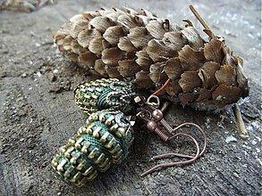 Náušnice - Green pinus.. - 301163