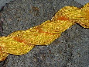 Galantéria - Nylonová šnúrka 1,5mm Žltá 02 - 3013054