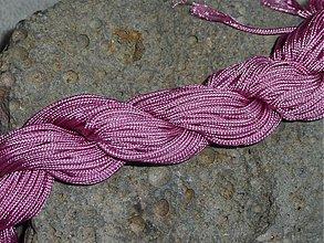 Galantéria - Nylonová šnúrka 1,5mm Ružovofialová 21 - 3013086