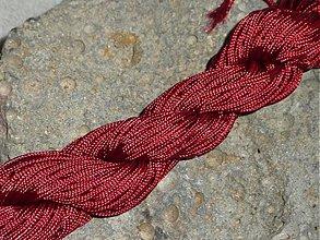 Galantéria - Nylonová šnúrka 1,5mm Bordová 05 - 3013118