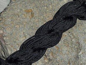 Galantéria - Nylonová šnúrka 1,5mm Čierna 16 - 3013213