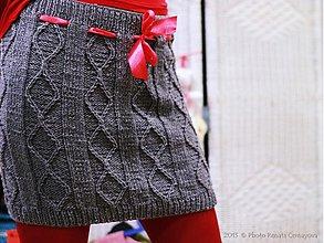 Sukne - Pletená suknica - 3020446