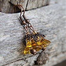 Náušnice - Medové zvončeky - 3021527