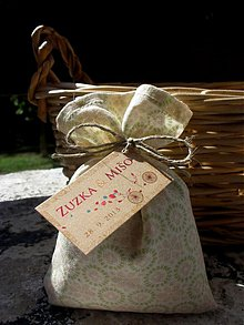 Dekorácie - Levanduľová svadba s menovkami - 3021774