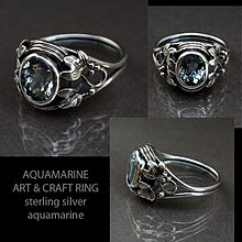 Prstene - Aquamarine Art & Craft ring - 3022212