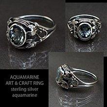 Prstene - Aquamarine Art & Craft ring - 3022212