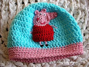 Detské čiapky - detská čiapka prasiatko - 3023433