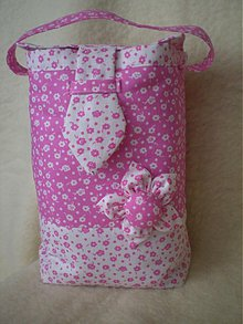 Iné tašky - puzdro na plienky ako taštička v ružovej s kvietkom - 3023997