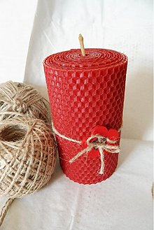Svietidlá a sviečky - červená bambuľka - 3027538