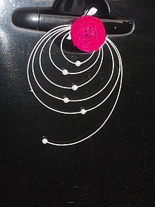 Dekorácie - Ozdoba na kľučky s ratanovou guličkou - 3028034
