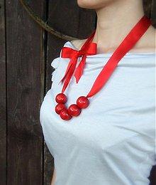 Náhrdelníky - VEĽKÝ červený náhrdelník - 3032500