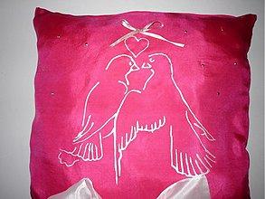 Prstene - Svadobný vankúšik holubičky - 3032857