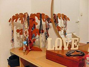 Polotovary - Drevený nápis LOVE - v 10 cm - 3036412