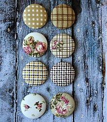 Materiál ručne robený - Vintage buttony v béžovom 38 mm - 3038171