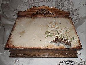 Krabičky - Drevený sekretár s veternicou - 3044366