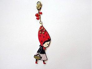 Náhrdelníky - Karkulka prívesok na kabelku, kľúče.... - 3046169