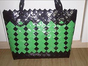 Veľké tašky - Zeleno čierna elegancia - 3047037