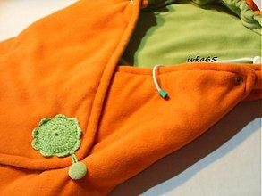 Textil - zavinovačka obojstranná FLEES - oranž +zelená - 3049522