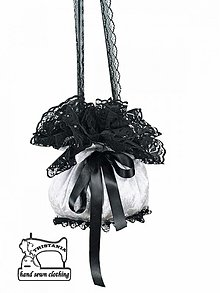 Kabelky - Kabelka Burleska alebo pompadúrka - Svadobná kabelka , gothic kabelka 0140 - 3050268