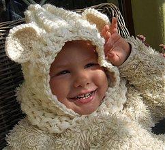 Detské čiapky - ...Macko maslový - 3051520