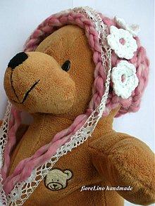Detské čiapky - detská čiapka - ružová romantika - 3053115
