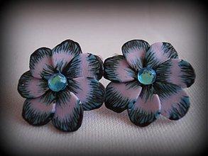 Náušnice - Violetky mini 2 - 3053911