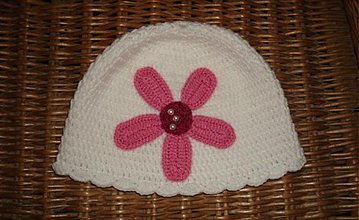Detské čiapky - Biela čiapka - 3056702
