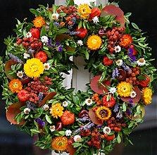 Dekorácie - jesenný veniec - 3057904