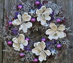 Dekorácie - vianočný fialový - 3058034