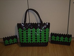 Kabelky - Zeleno-čierna súprava - 3058970