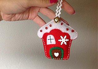 Dekorácie - Vianočná chalúpka (Red) - 3059614